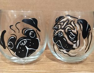 crafting wine glass painting