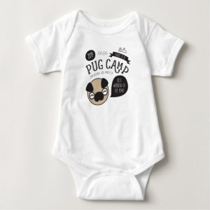 Pug Camp 2019 baby bodysuit