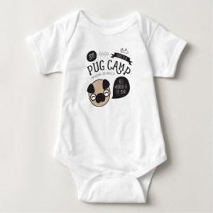 Pug Camp 2019 baby bodysuit