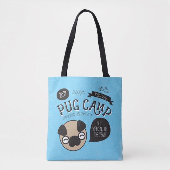 Pug Camp 2019 Full Color Tote Bag