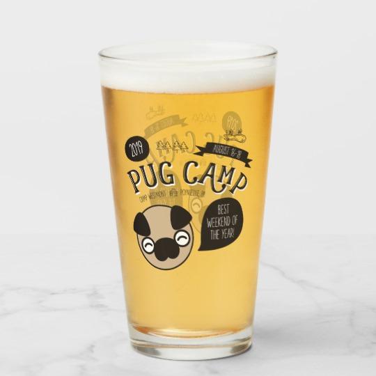 Pug Camp 2019 Pint Glass