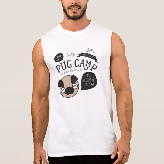 Pug Camp 2019 Sleeveless Shirt