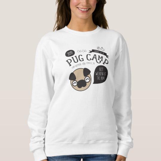 Pug Camp 2019 Women's Pullover Crew Sweatshirt