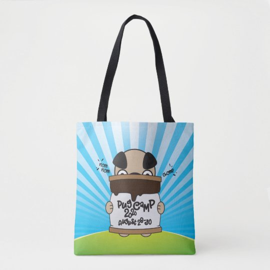 Pug Camp 2020 tote bag